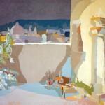 [16] UN PATIO (recuerdo de Granada), acrílico/lienzo, 89x116 cm