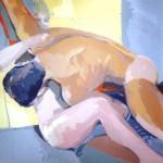 [07] EL ABRAZO, acrílico/lienzo, 100x100 cm