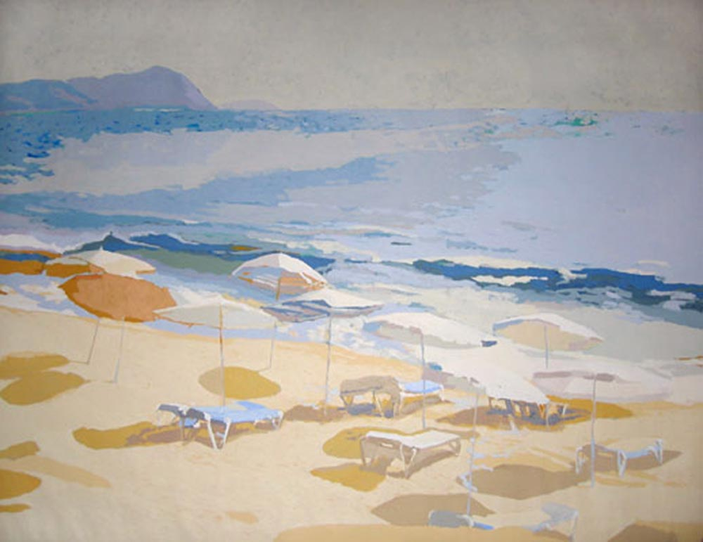 SOMBRILLAS, acrílico/lienzo, 89x116 cm
