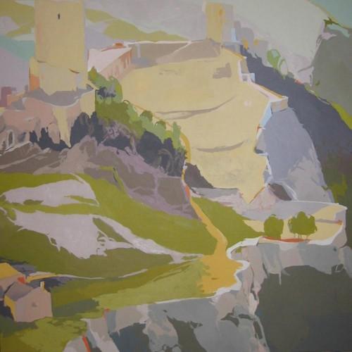[08] CASTILLO DE LORCA, acrílico/lienzo, 150x150 cm