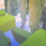 """[03] CIPRESES (serie """"Naturaleza artificial), acrílico/lienzo, 100x100 cm"""