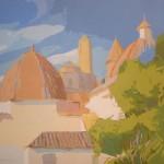 """[14] TEJADOS (serie """"Mare Nostrum""""), acrílico/lienzo, 81x100 cm"""