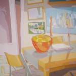 """[23] DOS BODEGONES (serie """"Interiores""""), acrílico/lienzo, 100x100 cm"""