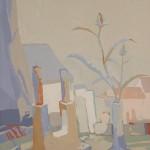"[25] PAREJAS (serie ""Interiores""), óleo/lienzo, 61x50 cm"