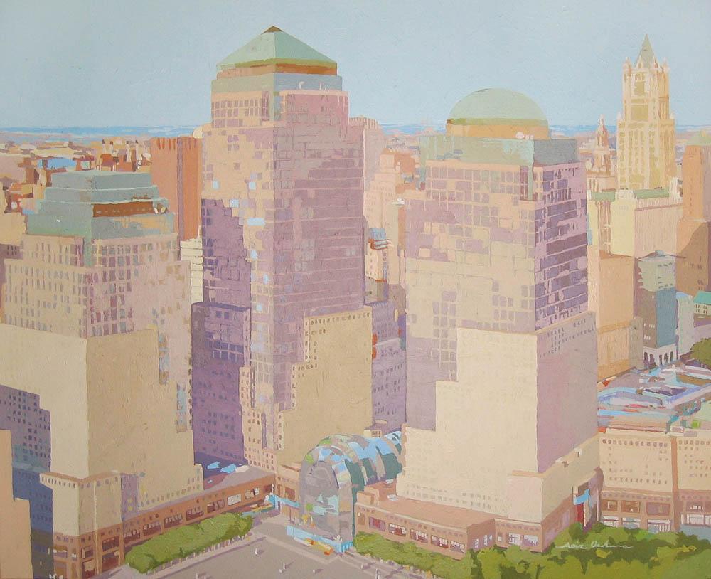 [03] WORLD TRADE CENTER, acrílico/lienzo, 81x100 cm