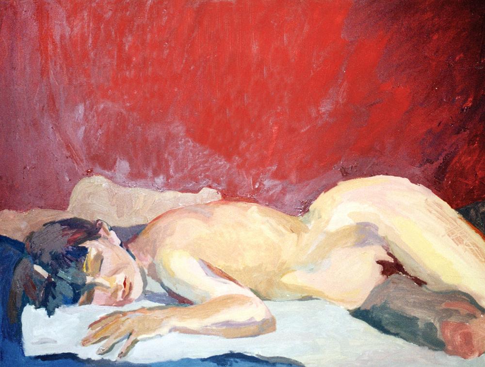 LA SIESTA, óleo/lienzo, 97x130, 1998