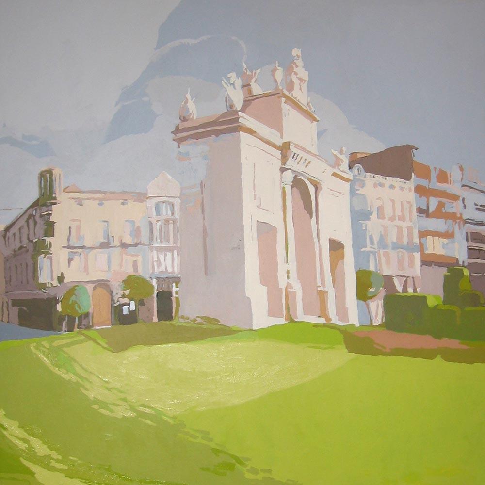 [08] PORTA DEL MAR (Valencia), acrílico/lienzo, 150x150 cm
