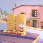 AGUA SIN CLORO, acrílico/lienzo, 81x100 cm, 2002