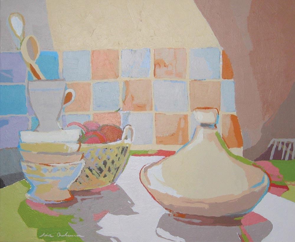 ALACENA, acrílico/lienzo, 38x46 cm, 2005