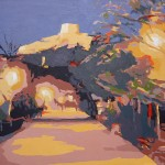 ALAMEDA (Nocturno), acrílico/lienzo, 54x65 cm, 2005