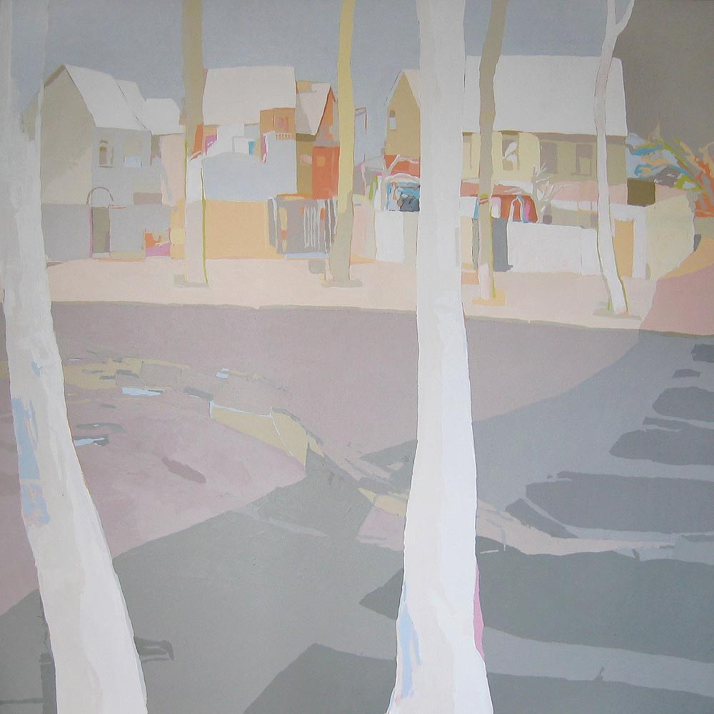 ÁRBOLES BLANCOS, acrílico/lienzo, 150x150 cm, 2006