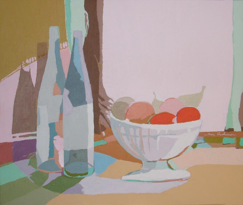 BODEGÓN DE LAS FRUTAS ROJAS, acrílico/lienzo, 46x55 cm, 2008