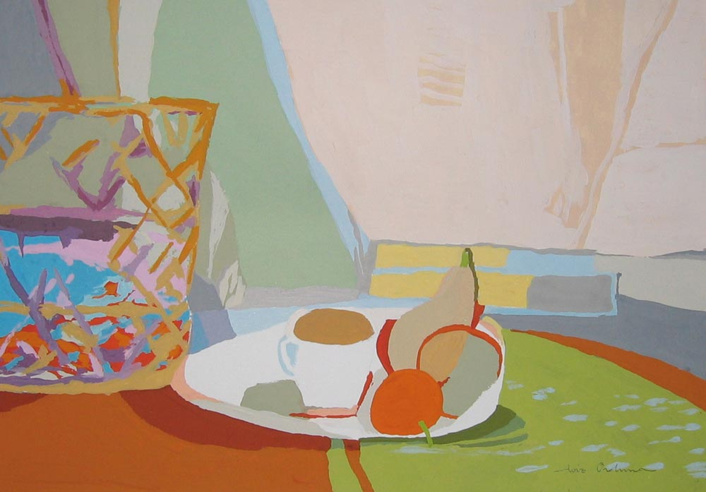CAPAZO Y CAFÉ, goucache/papel, 20x29 cm, 2007