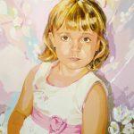 DANIELA PINK TRAIT, acrílico/tela, 91x73 cm, 2016