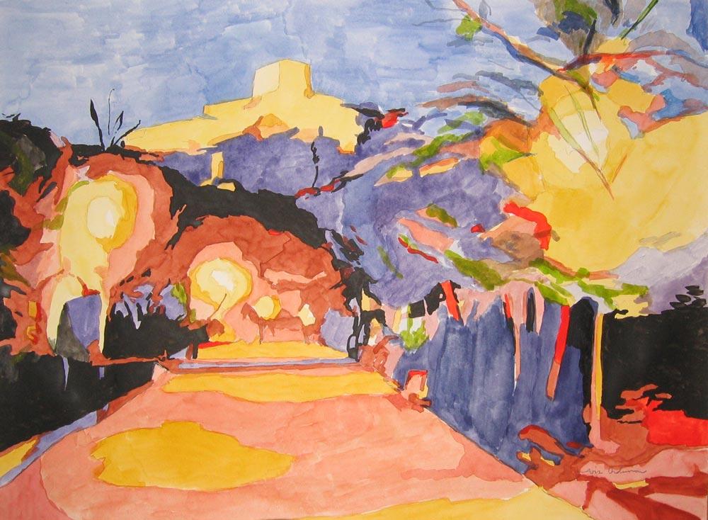 DE DOS A TRES (Lorca), acuarela/papel, 20x29 cm, 2007
