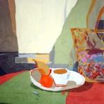 DESAYUNO CON CESTA, acrílico/lienzo, 73x51 cm, 2002