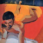 EN TU HABITACIÓN LA LUZ ES ROJA, acrílico/lienzo, 100x100 cm, 2004