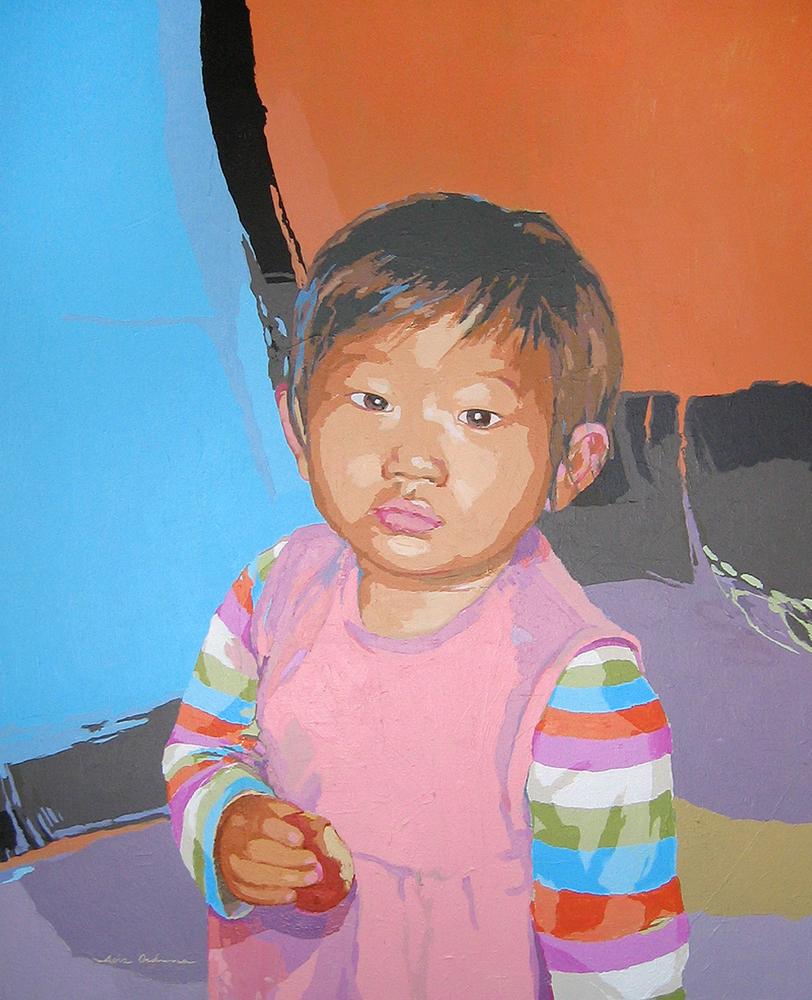 INÉS YING TRAIT, acrílico/lienzo, 100x81 cm, 2007
