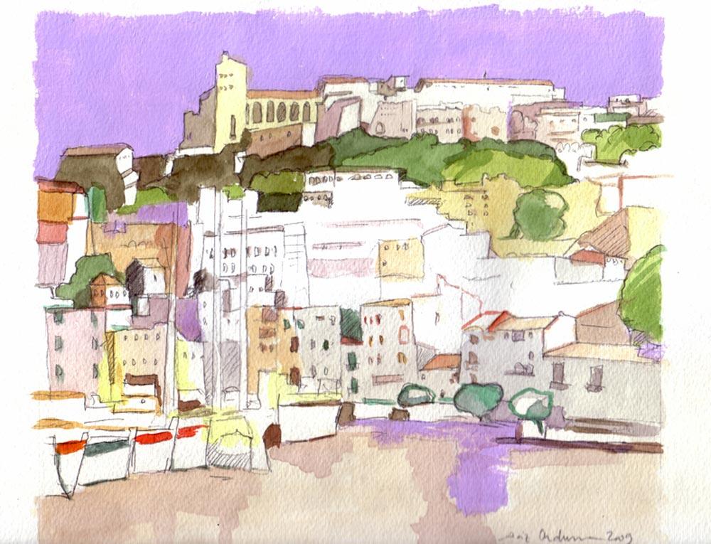 IBIZA, Acuarela/papel, 20x29 cm, 2009
