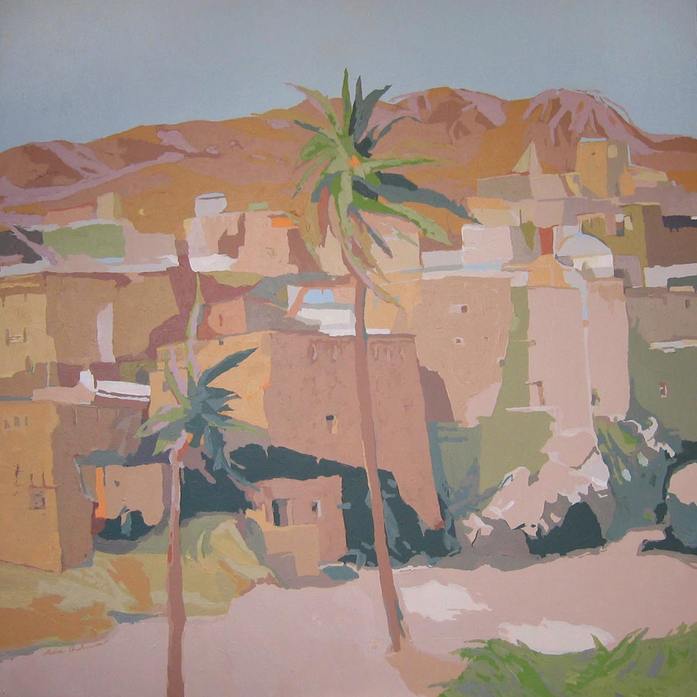 KASBAH VIOLETA, acrílico/lienzo, 100x100 cm, 2004