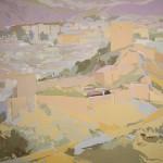 FORTALEZA DEL SOL II, acrílico/lienzo, 100x100 cm, 2008
