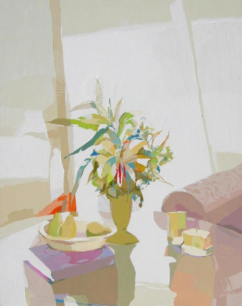 LA MESA DE CRISTAL, acrílico/lienzo, 162x130 cm, 2005