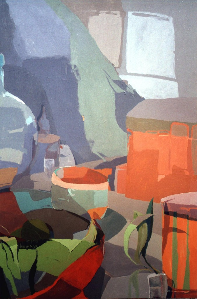 LA PECERA, acrílico/lienzo, 195x130 cm, 2000