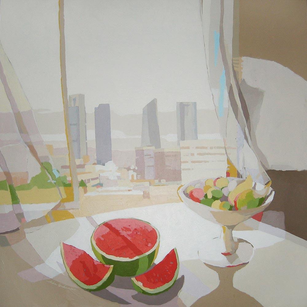 LA SANDÍA, acrílico/lienzo, 100x100 cm, 2011
