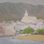 MÁGICA LUZ (Cadaqués), acrílico/lienzo, 81x100 cm, 2006