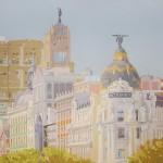 MADRID METRÓPOLIS, acrílico/lienzo, 89x116 cm, 2010