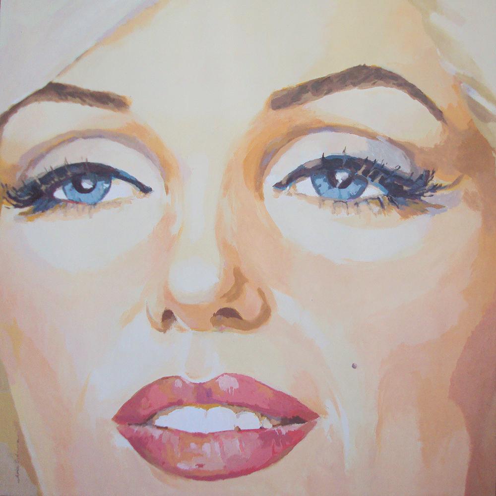 MARILYN-EYES, acrílico/lienzo, 100x100 cm, 2011