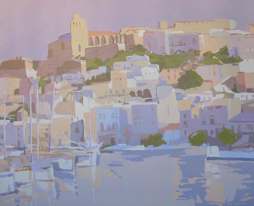 MÁSTILES (Ibiza), acrílico/lienzo, 81x100 cm, 2006