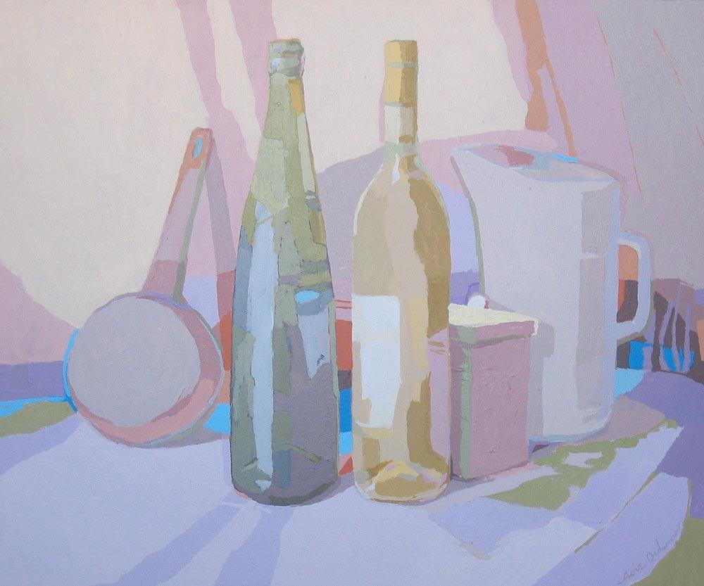 NATURALEZA MUERTA, acrílico/lienzo, 46x55 cm, 2006