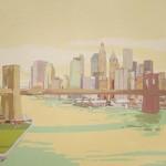NEW YORK NEW YORK I, acrílico/lienzo, 81x100 cm, 2010