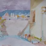 UN PATIO, acuarela/papel, 30x40 cm, 2006