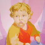 PAULA PINK TRAIT, acrílico/lienzo, 91x73 cm, 2007