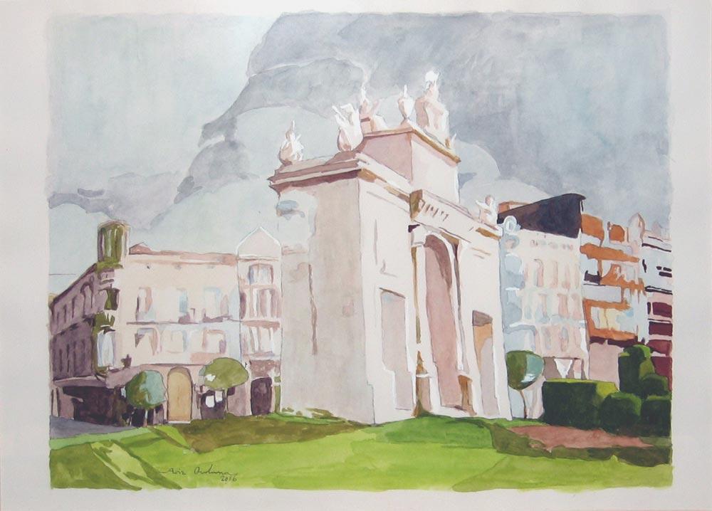 PORTA DEL MAR (Valencia), acuarela/papel, 30x40 cm, 2006