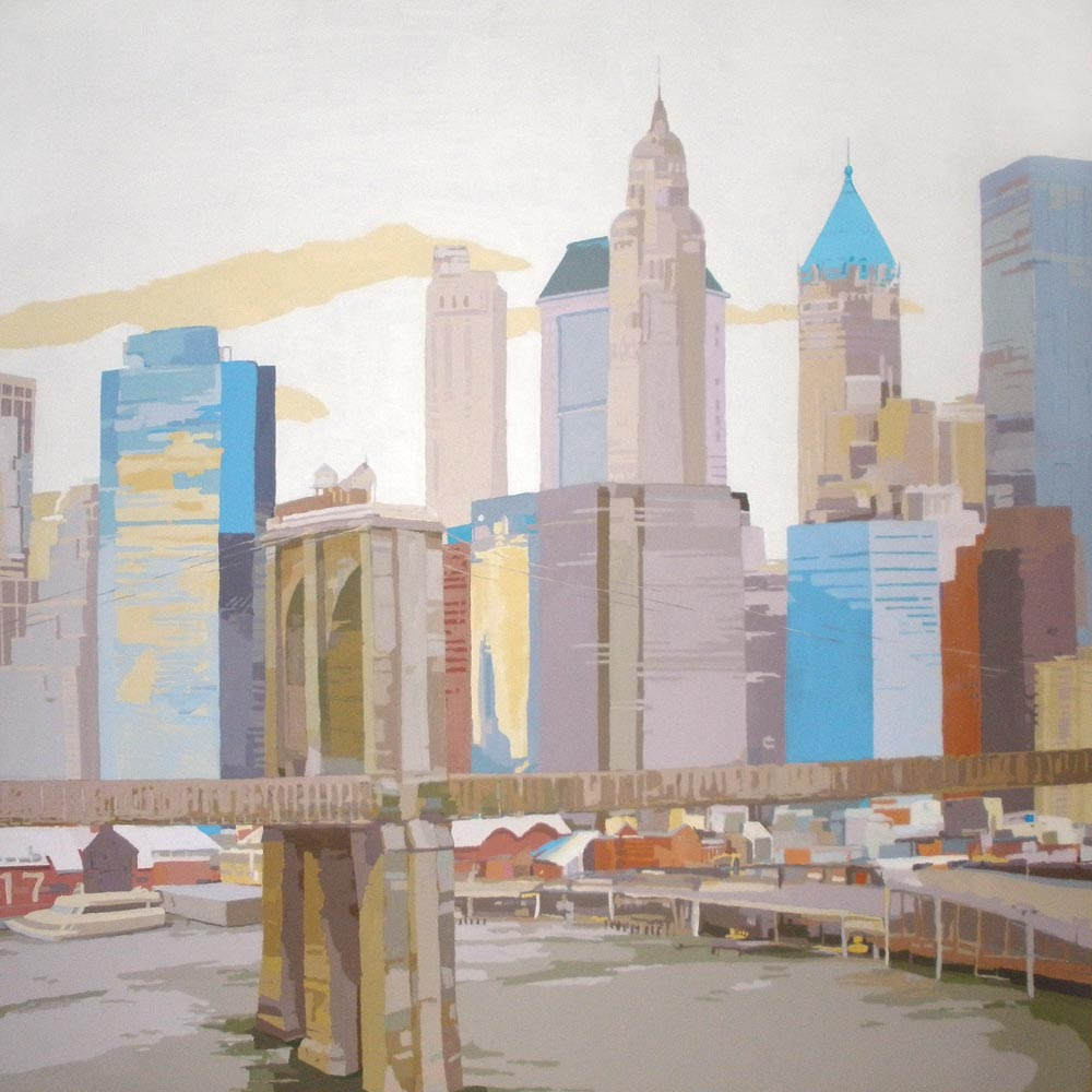 PIER 17 NYC II, acrílico/lienzo, 195x195 cm, 2010