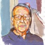 RETRATO DE JUAN ALCALDE, gouache/papel, 29x21 cm, 2011