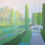 SETOS DE BOJ (Jardines de Sabatini), acrílico/lienzo, 73x91 cm, 2006