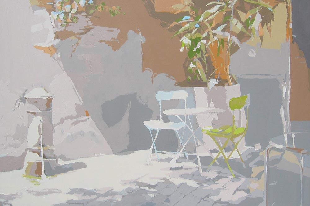 SOL Y SOMBRAS, acrílico/lienzo, 130x195 cm, 2005