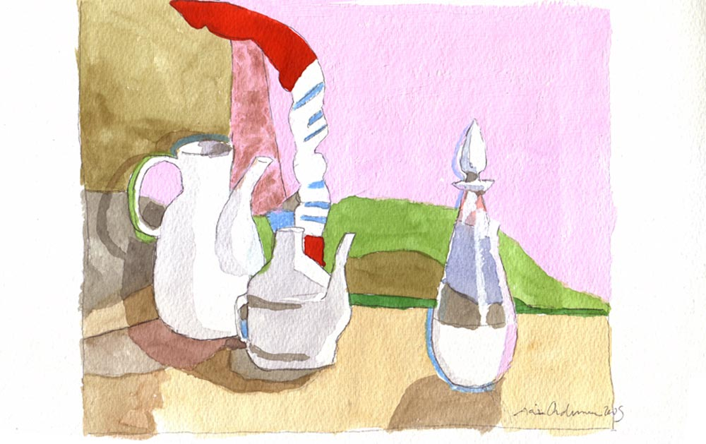 SALTIMBANQUIS, acuarela/papel, 20x29 cm, 2009