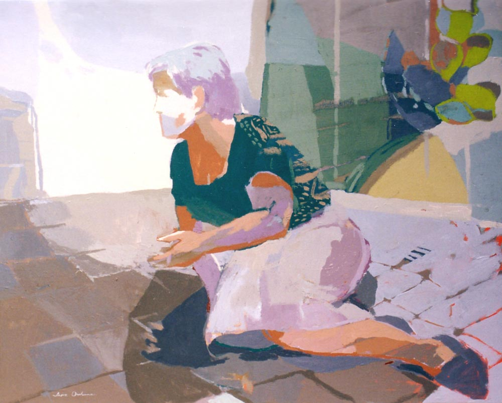 TARDES DE VERANO, acrilico/lienzo, 81x100 cm, 2002