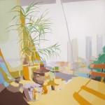 TARROS Y TORRES, acrílico/lienzo, 195x195 cm, 2009