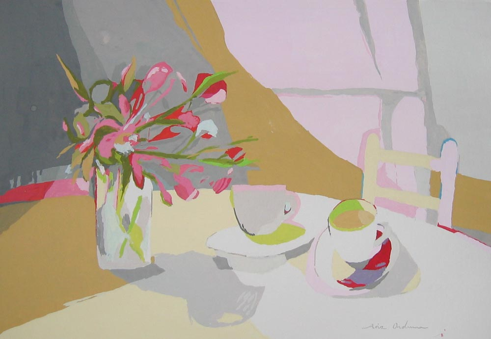 TAZAS, gouache/papel, 20x29 cm, 2007