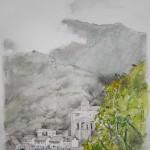TRAS LA TORMENTA (despeja Santa Bárbara), acuarela y lápiz/papel, 29x20cm, 2010
