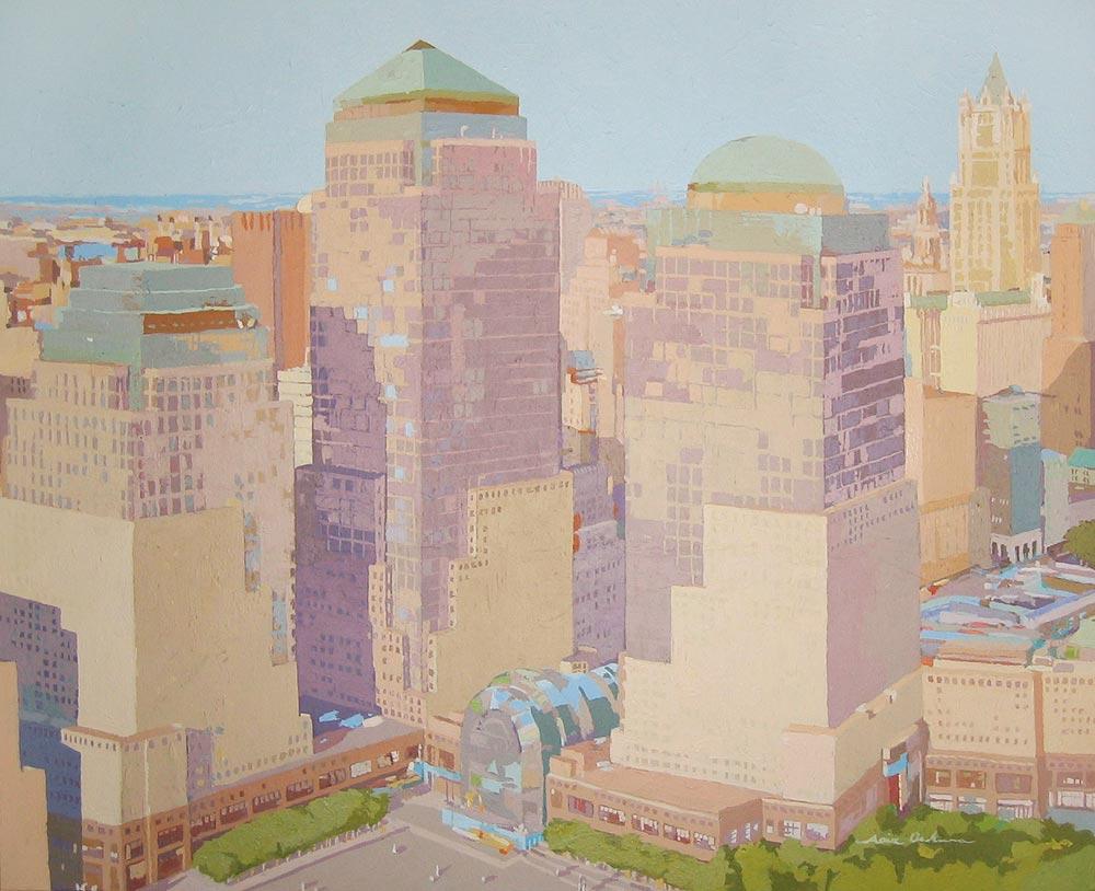WORLD TRADE CENTER, acrílico/lienzo, 81x100 cm, 2010