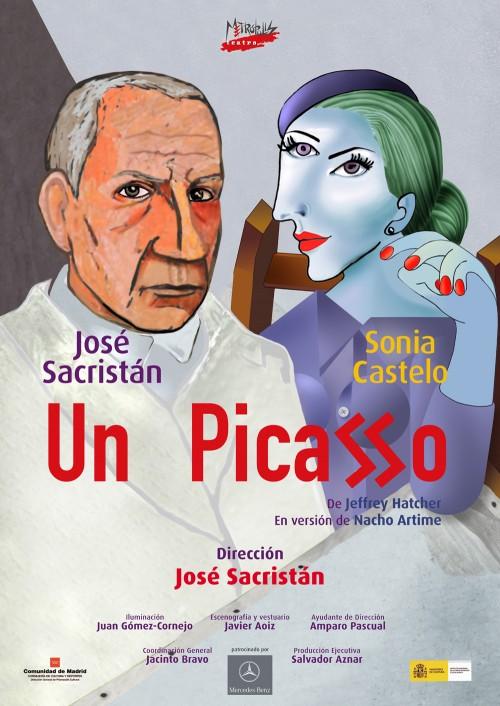 Cartel UN PICASSO con José Sacristán y Sonia Castelo