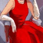 Retrato Señora de Rojo 3