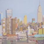 Empire desde el Hudson I - Acrílico sobre lienzo - 50x50 cm